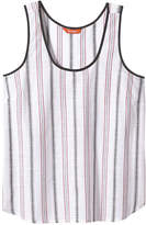 Joe Fresh Women's Stripe Tank, White (Size XS)