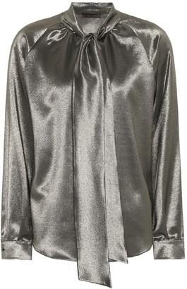 Max Mara Metallic stretch silk blouse