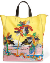 Emilio Pucci Printed Canvas And Leather Tote