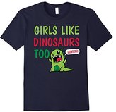 Women's Girls Like Dinosaurs Too Grawrrr T-shirt Small