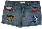 Girl's Hudson Kids Patched Up Denim Shorts