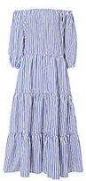 MDS Stripes Tiered Maxi Dress