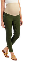 Times 2 Women's Denim Pants and Jeans OLIVE - Olive Overbelly Cuff Skinny Boyfriend Jeans - Plus Too