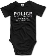 WSWDSH Baby Boys' POLICE Here To Protect Your Platinum Style Romper Jumpsuit Bodysuit Outfits