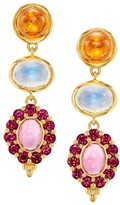 Temple St. Clair Dreamcatcher 18K Yellow Gold & Multi-Stone Drop Earrings