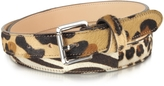Forzieri Animal Print Haircalf Leather Belt