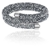 Bliss 18k White Gold Mirror Crystal Coil Wrap Bracelet.