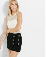 Express mid rise lace-up mini skirt