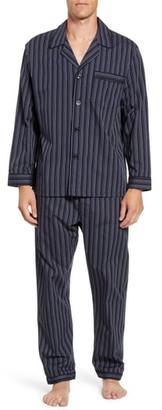 Majestic International Bar Blues Stripe Cotton Blend Pajamas