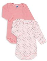Petit Bateau Baby's Two-Piece Long Sleeve Bodysuits Set