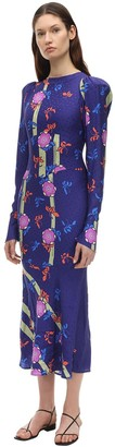 Silvia Astore Jade Floral Printed Silk Mini Dress