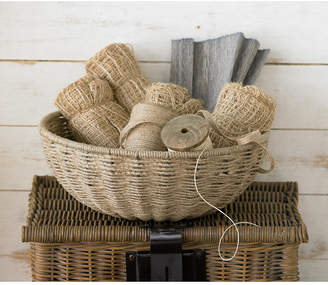 """St. Croix Kindwer 14"""" Woven Jute Rope Basket with Iron Frame"""