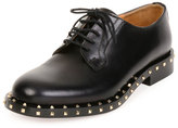 Valentino Soul Stud Leather Derby Oxford, Black (Nero)