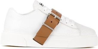 Miu Miu Buckled Strap Sneakers