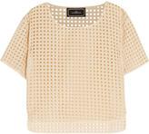 By Malene Birger Julox silk-paneled latticed cotton top