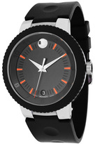 Movado 606926 Men's Sport Edge Black Rubber Watch