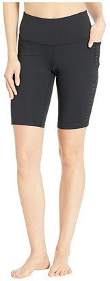Brooks 9 Greenlight Shorts Tights (Black) Women's Shorts