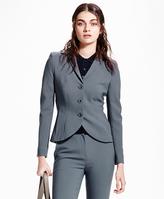 Brooks Brothers Petite Three-Button Wool Suit Jacket