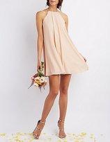 Charlotte Russe Bib Neck Shift Dress