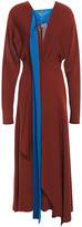 Thumbnail for your product : Victoria Beckham Cutout Draped Knitted Midi Dress