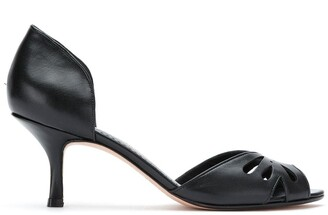 Sarah Chofakian Valencia peep toe pumps