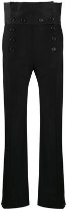 Ann Demeulemeester Buttoned High-Waisted Trousers
