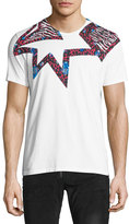 Just Cavalli Leopard-Print Star T-Shirt, White