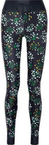 The Upside Ditsy Floral-print Stretch Leggings - Navy