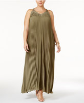 MICHAEL Michael Kors Size Pleated Maxi Dress