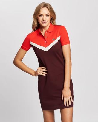 Lacoste Colour-Block Polo Dress