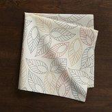 Crate & Barrel Dotted Leaf Cloth Dinner Napkin