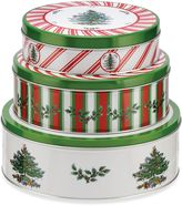 Spode Christmas Tree Nesting Tins (Set of 3)