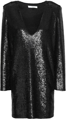 IRO Sequined Woven Mini Dress