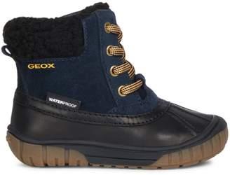 Geox Baby Boy's Omar Faux Fur-Trim Waterproof Ankle Boots