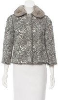 Andrew Gn Mink-Trimmed Lace Jacket