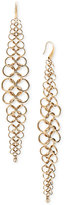 Michael Kors Gold-Tone Chain Mail Drop Earrings