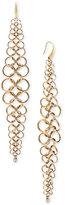 Michael Kors Gold-Tone Chain Mail Drop Earrings