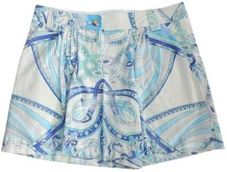 Emilio Pucci Blue Cotton - elasthane Shorts for Women