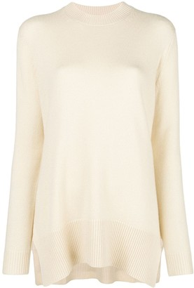 Derek Lam Asymmetric Crew-Neck Sweater