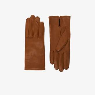 Agnelle Womens Brown Kate Leather Gloves