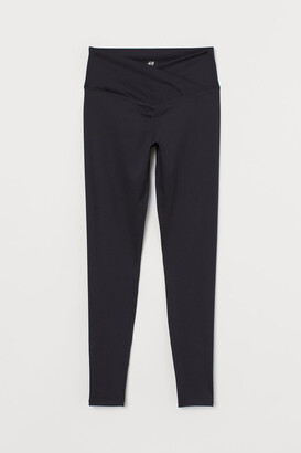 H&M Wrapover-waist sports tights