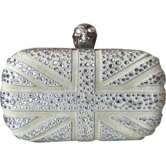 Alexander McQueen Skull Grey Suede Clutch bags