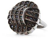 Ralph Lauren Art Deco Crystal Ring Silver 7