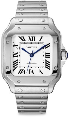 Cartier Santos de Medium Stainless Steel Two-Strap Watch