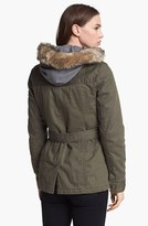 Buffalo by David Bitton Faux Fur Trim Hooded Inset Jacket (Online Only) Large
