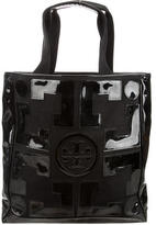 Tory Burch Patent Leather-Accented Canvas Tote