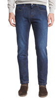 Loro Piana Clean-Wash Straight-Leg Jeans, Dark Blue