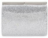 Jimmy Choo 'Cate' Glitter Box Clutch - Metallic