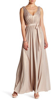 Vera Wang Stretch Metallic Gown