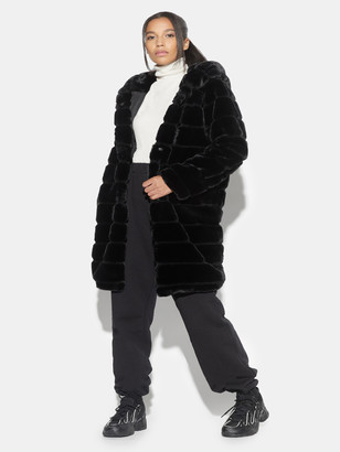 Apparis Celina Tiered Faux-Fur Hooded Coat